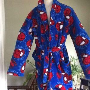 Kids Ultimate Spider-Man Fleece Robe Sz L(10)